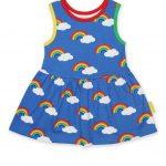 SSDRPMRAIN Organic Multi Rainbow Print SS Twirl Dress