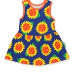 SSDRPSUN Organic Sunflower Print SS Twirl Dress