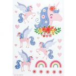 WSLUMC02-LR-1 wall sticker unicorn