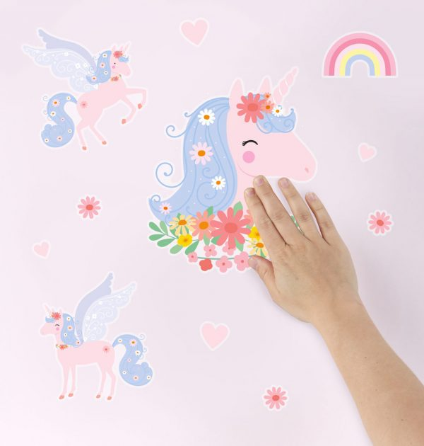 WSLUMC02-LR-4 wall sticker unicorn