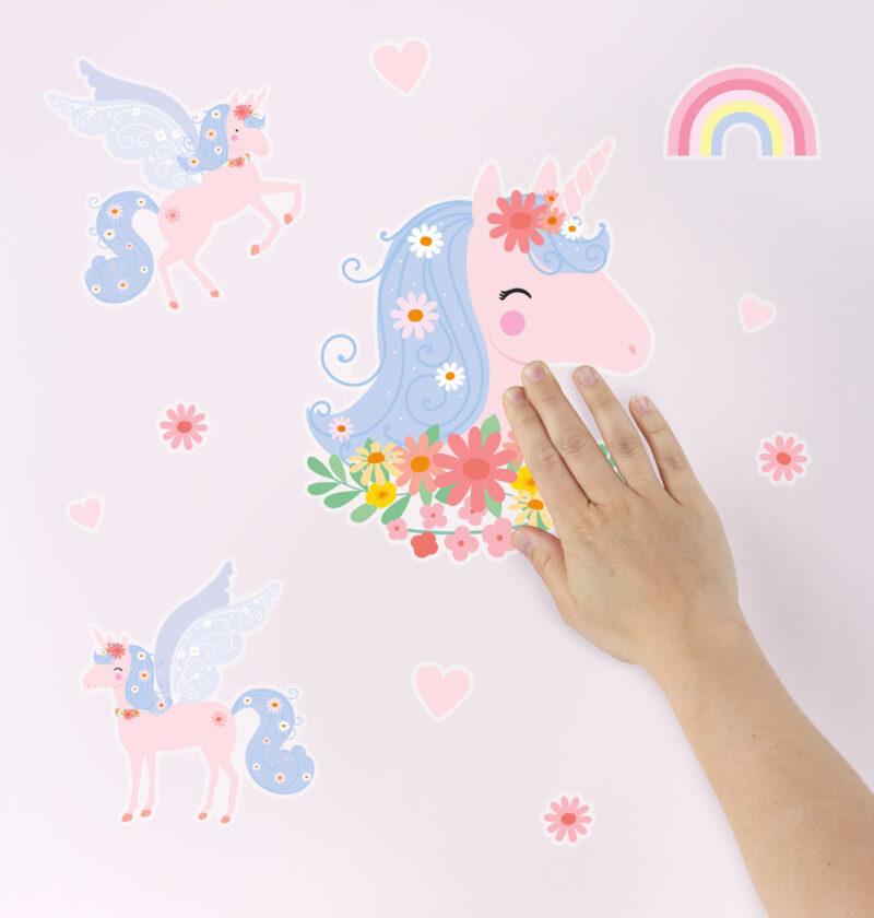 WSLUMC02-LR-4 wall sticker unicorn