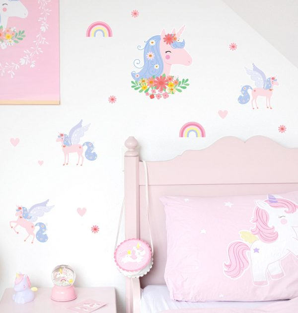 WSLUMC02-LR-5 wall sticker unicorn