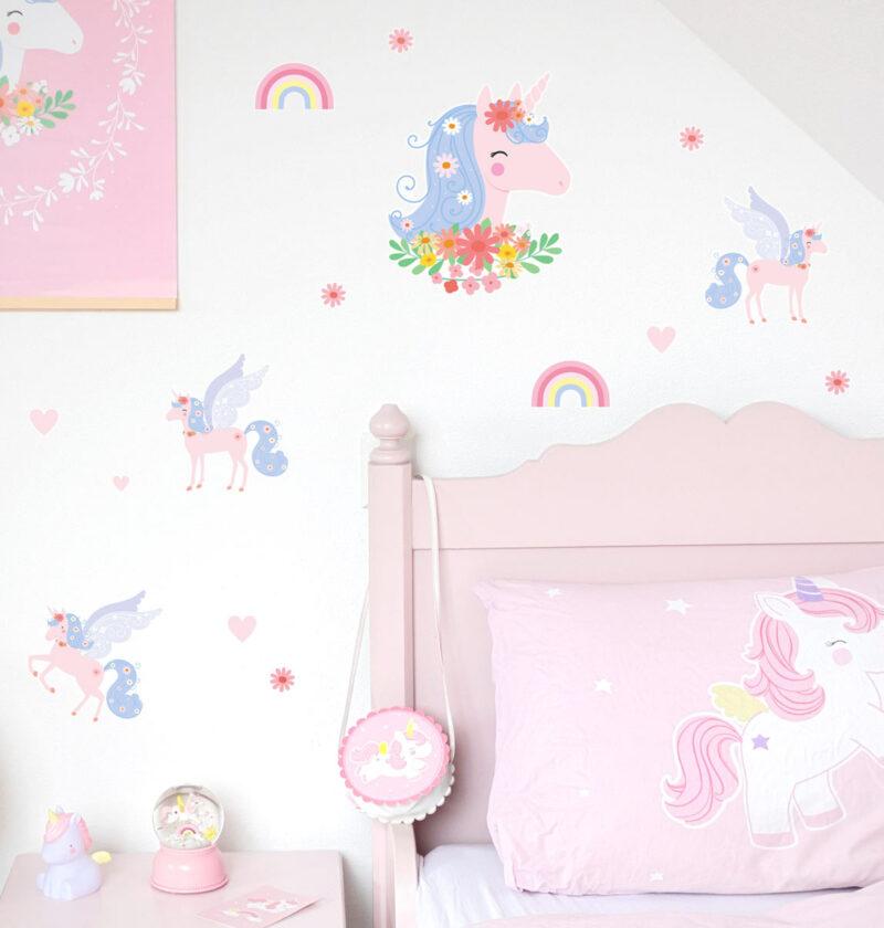 WSLUMC02-LR-5 wall sticker unicorn