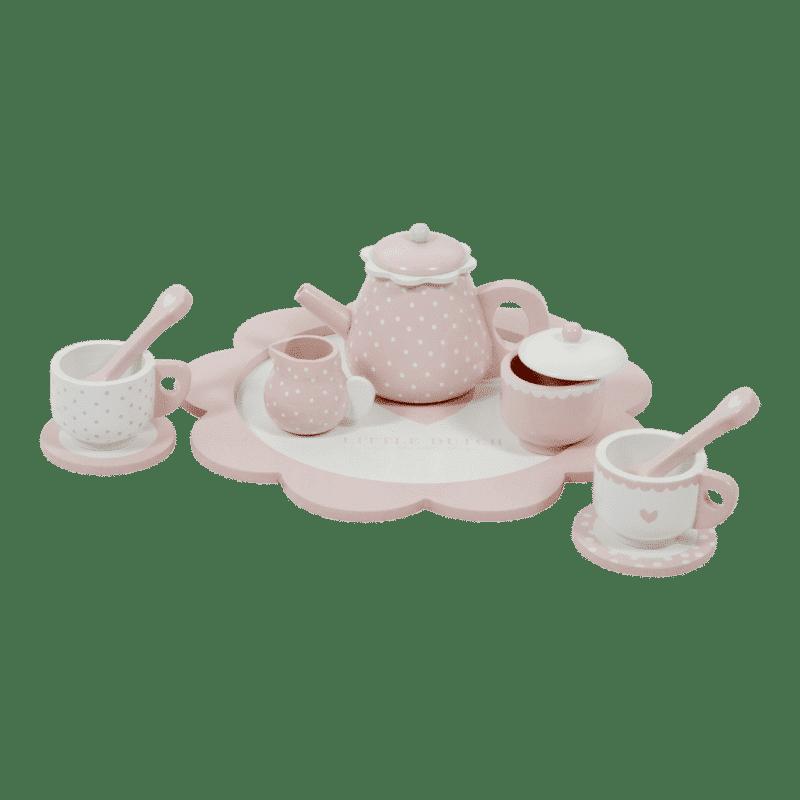 4381 – wooden tea set – pink 2