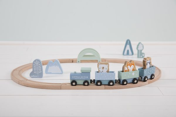4423 – wooden train track – blue 4