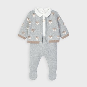 Mayoral 3 Piece Knit Set Grey_1