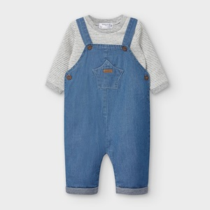 Mayoral Dungaree Set Blue Denim_1