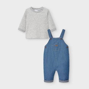 Mayoral Dungaree Set Blue Denim_2