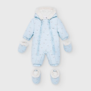 Mayoral Patterned Microfibre Snowsuit Blue_1