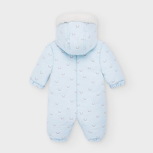 Mayoral Patterned Microfibre Snowsuit Blue_2