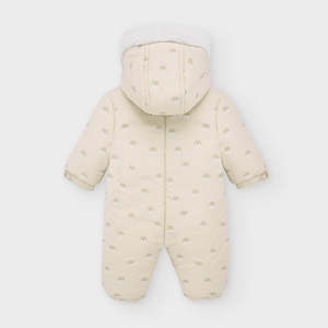 Mayoral Patterned Microfibre Snowsuit Nougat_2