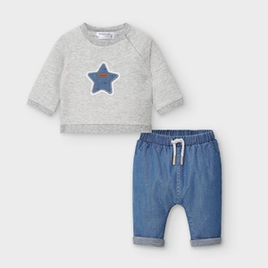 Mayoral Trousers & Sweatshirt Blue Denim_1