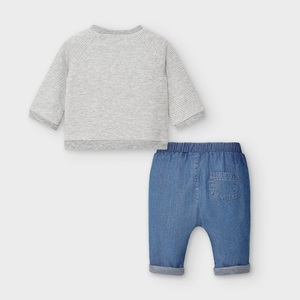 Mayoral Trousers & Sweatshirt Blue Denim_2