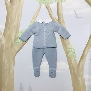 Paz Rodriguez Blue Knitted Suit Set_2