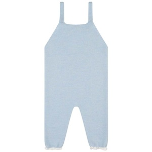 Paz Rodriguez Knitted Blue Dungarees & White Blouse_2