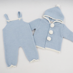 Paz Rodriguez Knitted Blue Dungarees & White Blouse_3
