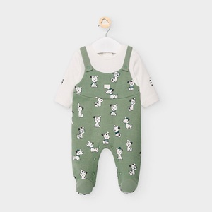 mayoral Patterned Baby Grow Olive_1