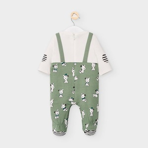 mayoral Patterned Baby Grow Olive_2