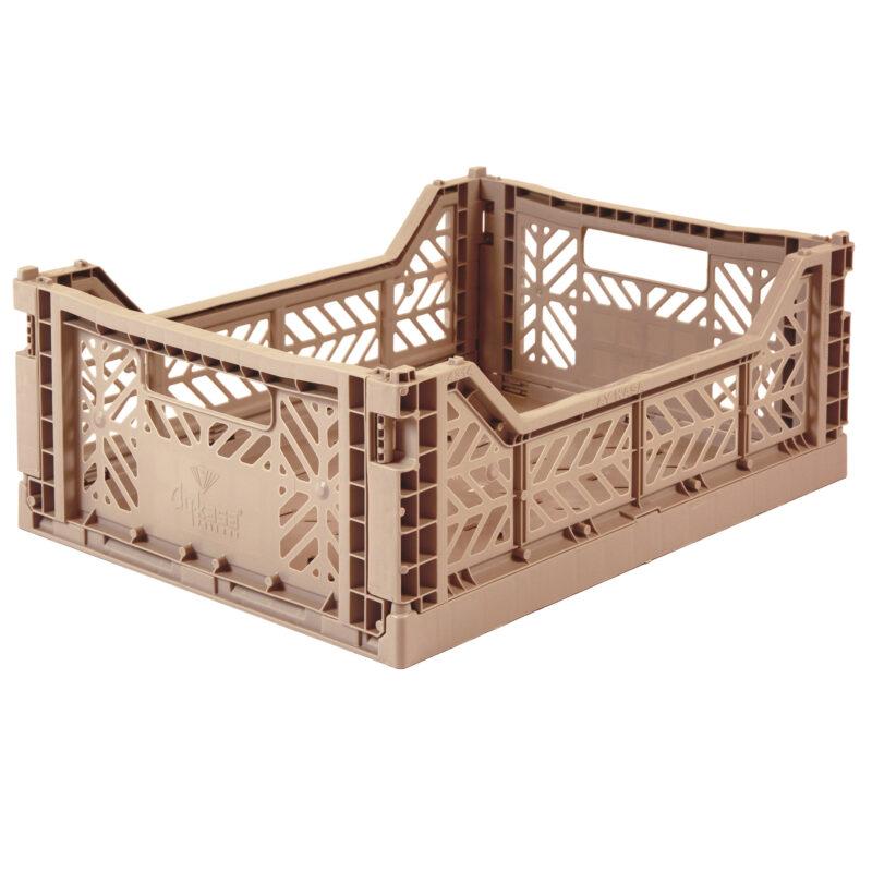 Aykasay Warm Taupe folding Crate