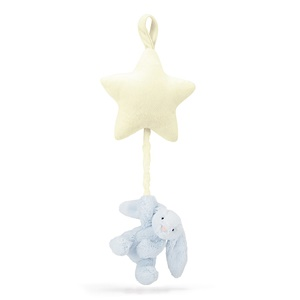 Jellycat Bashful Blue Bunny Star Musical Pull-1