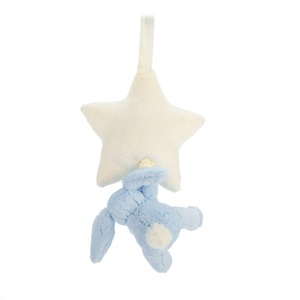 Jellycat Bashful Blue Bunny Star Musical Pull-3