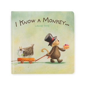 Jellycat- I Know A Monkey Book-1