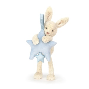 Jellycat Star Bunny Blue Musical Pull-2