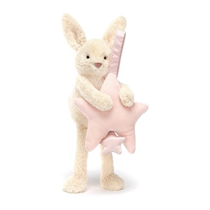 Jellycat Star Bunny Pink Musical Pull-2
