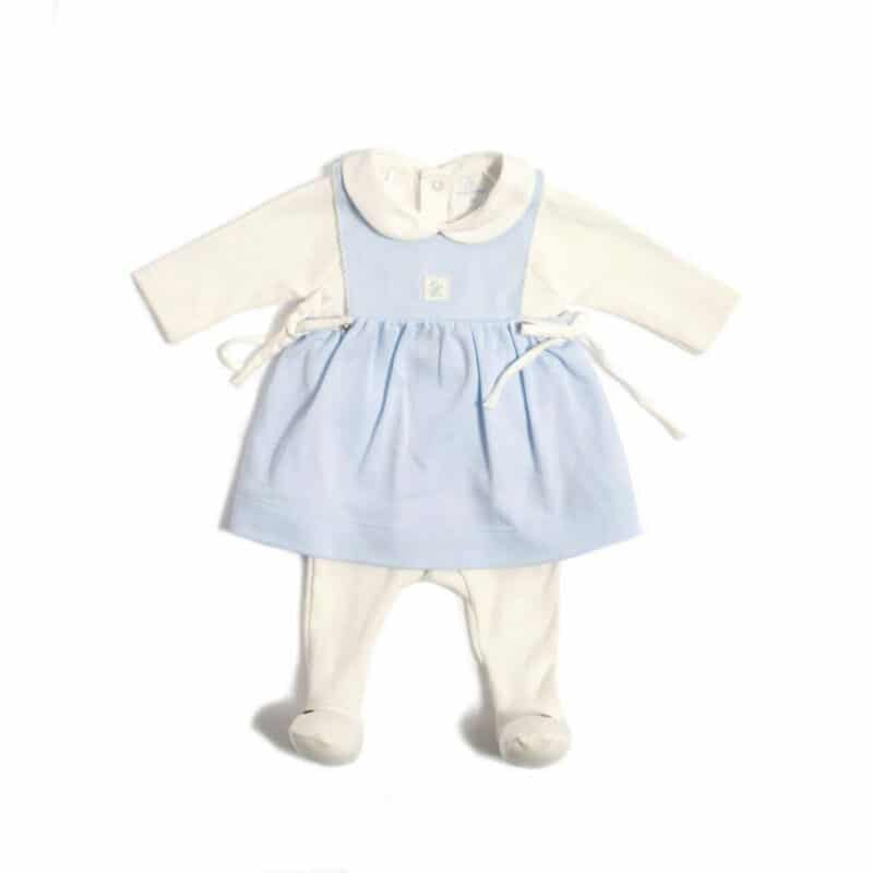 Laranjinha Blue Dress and White Babygrow
