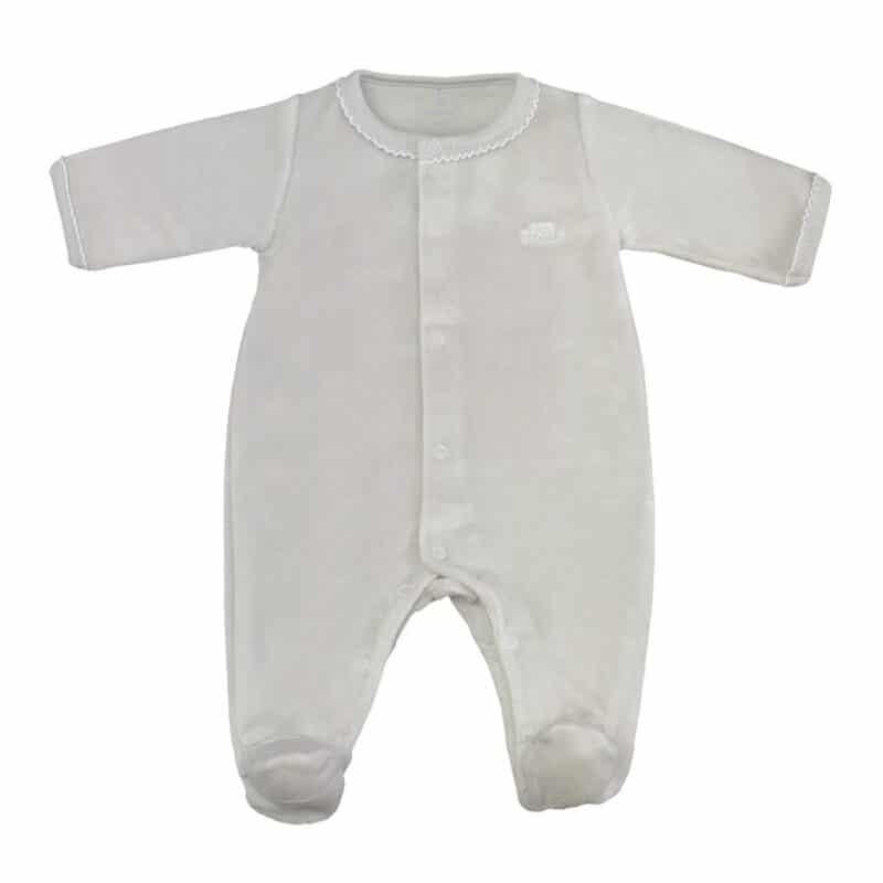 Antibacterial babygrow front opening Grey