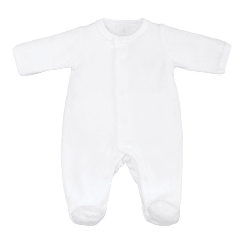 Laranjinha Antibacterial Babygrow Front Opening White