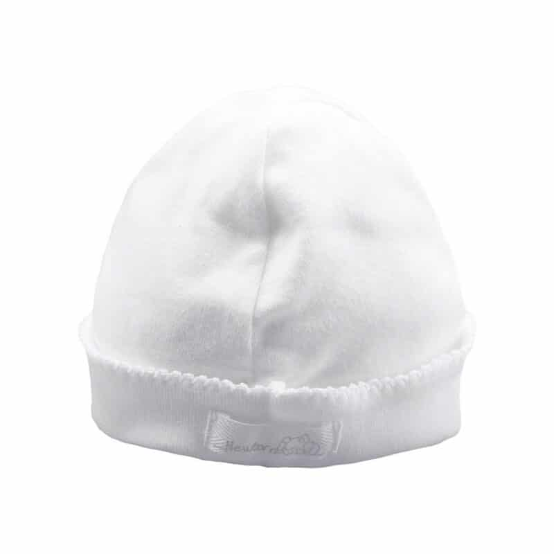 Cotton hat with colored detail
