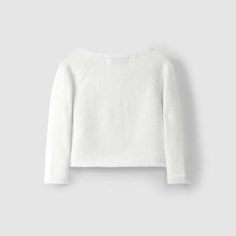 Cropped Cardigan White