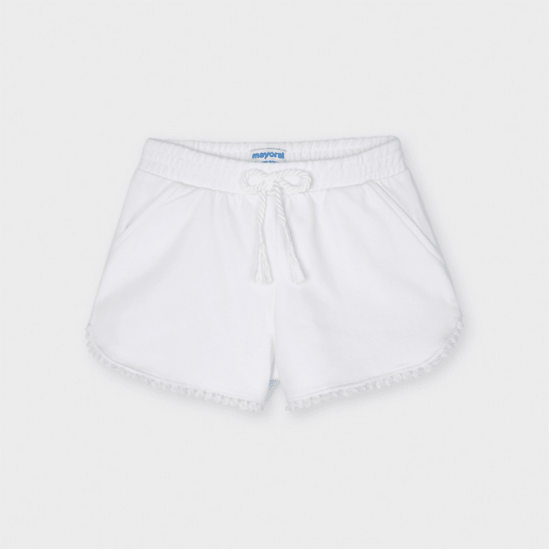 Chenille Shorts White