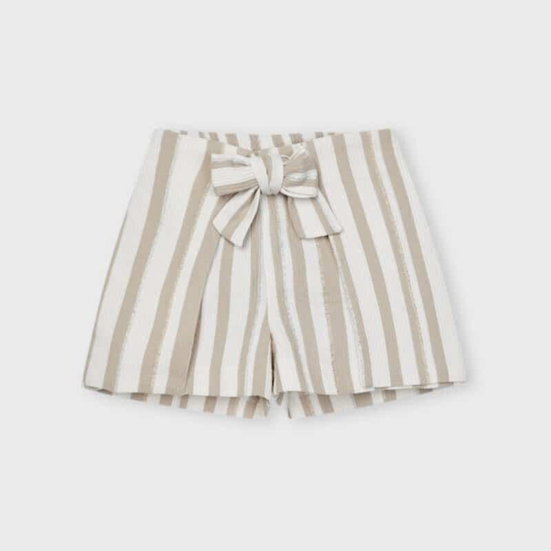 ECOFRIENDS Lurex Striped Shorts Camel