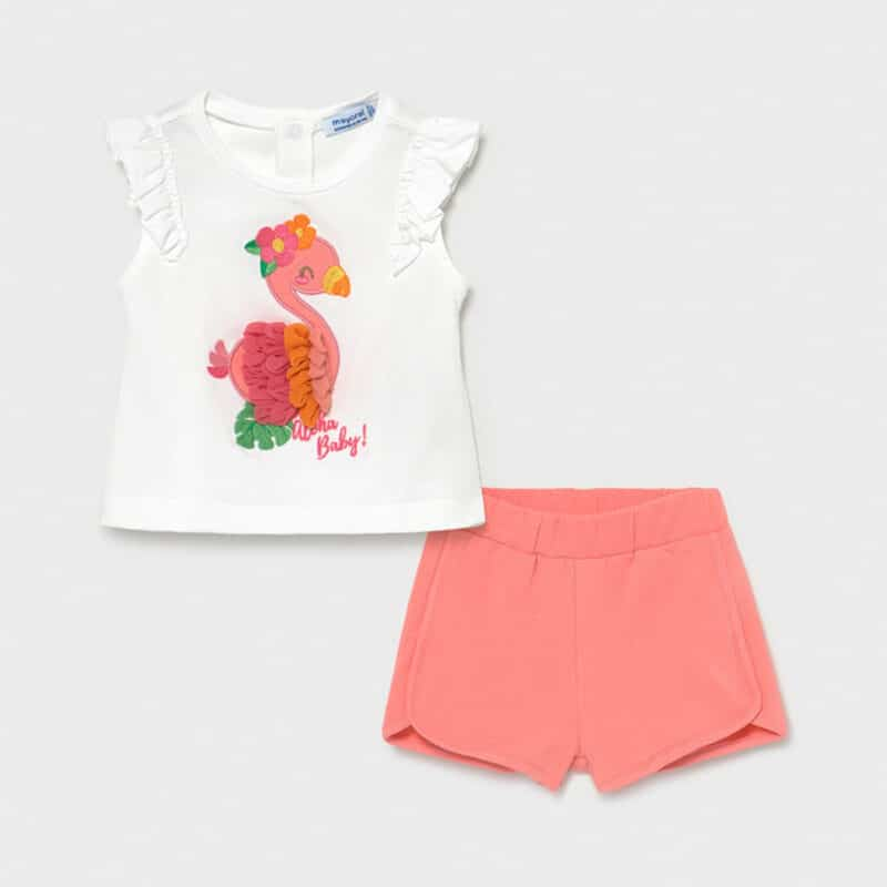 Appliqué Shorts Set