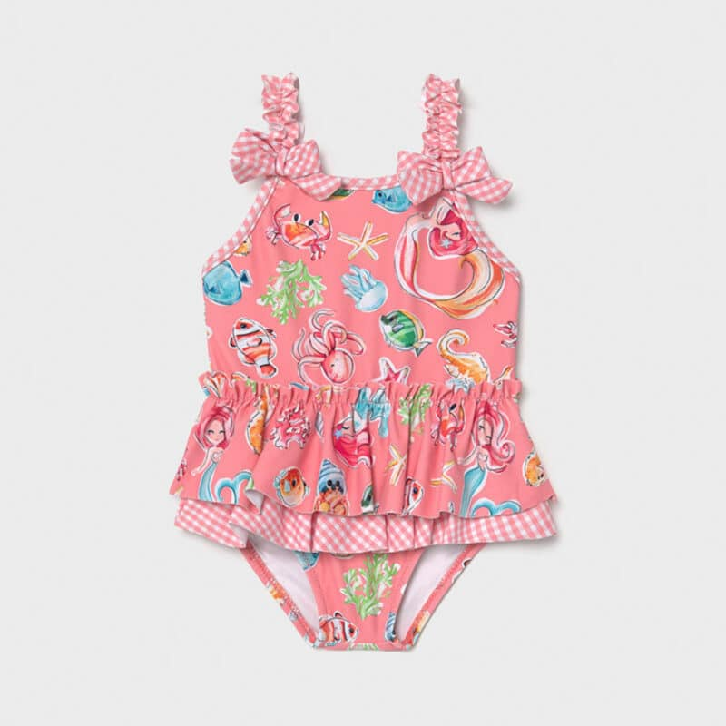 Ruffle swimsuit Pink