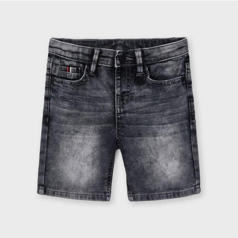Soft Denim Shorts Gray