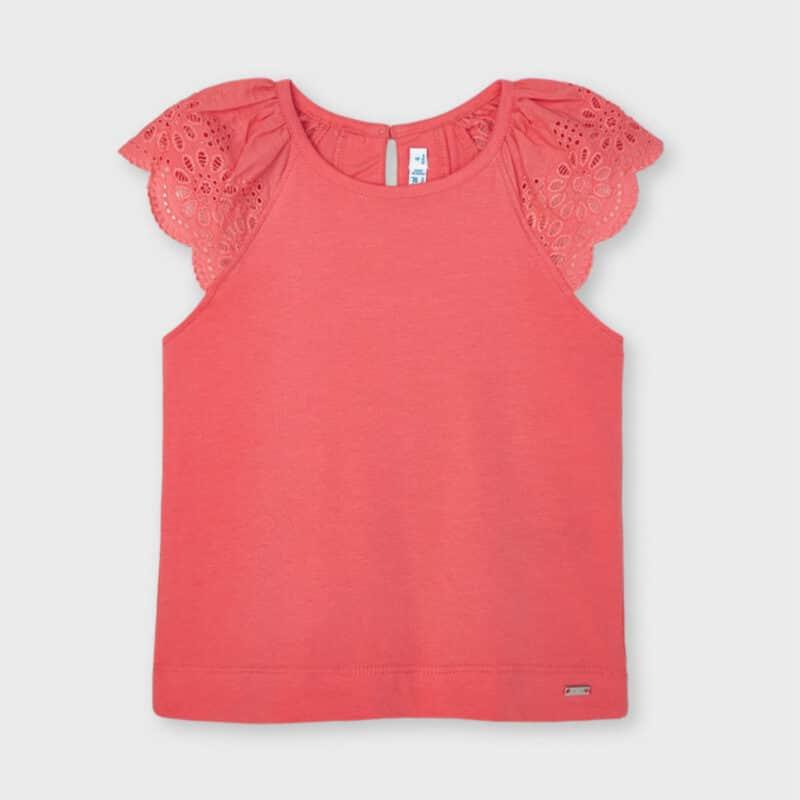 Sleeveless T-shirt Coral