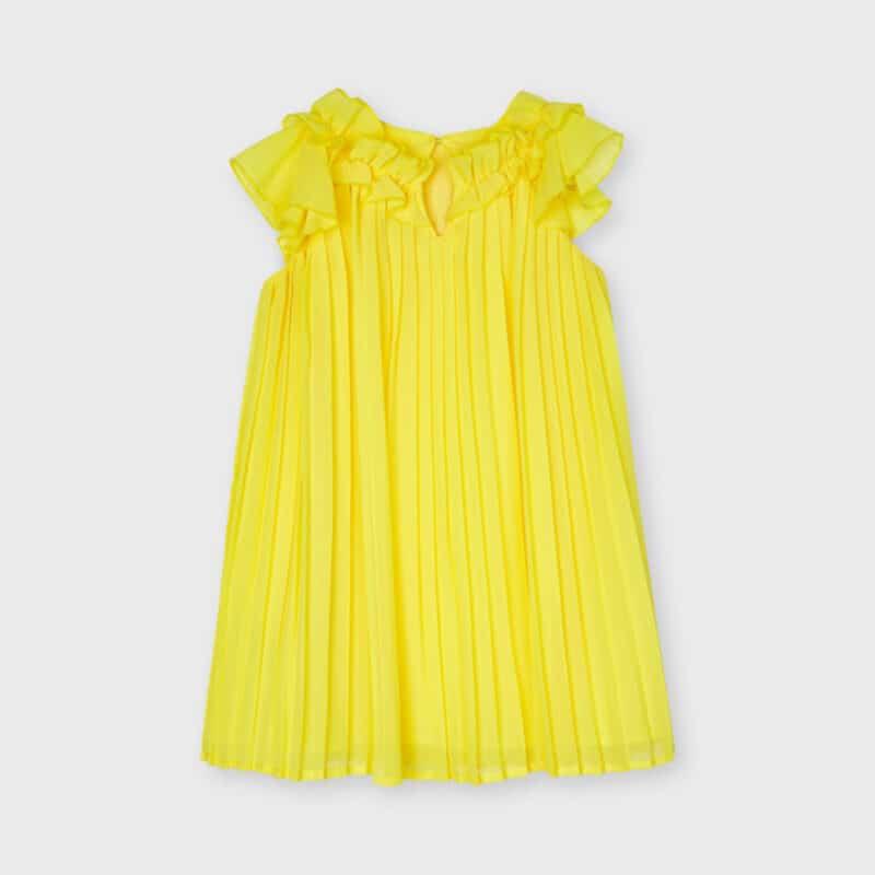 Pleated Dress Yellow