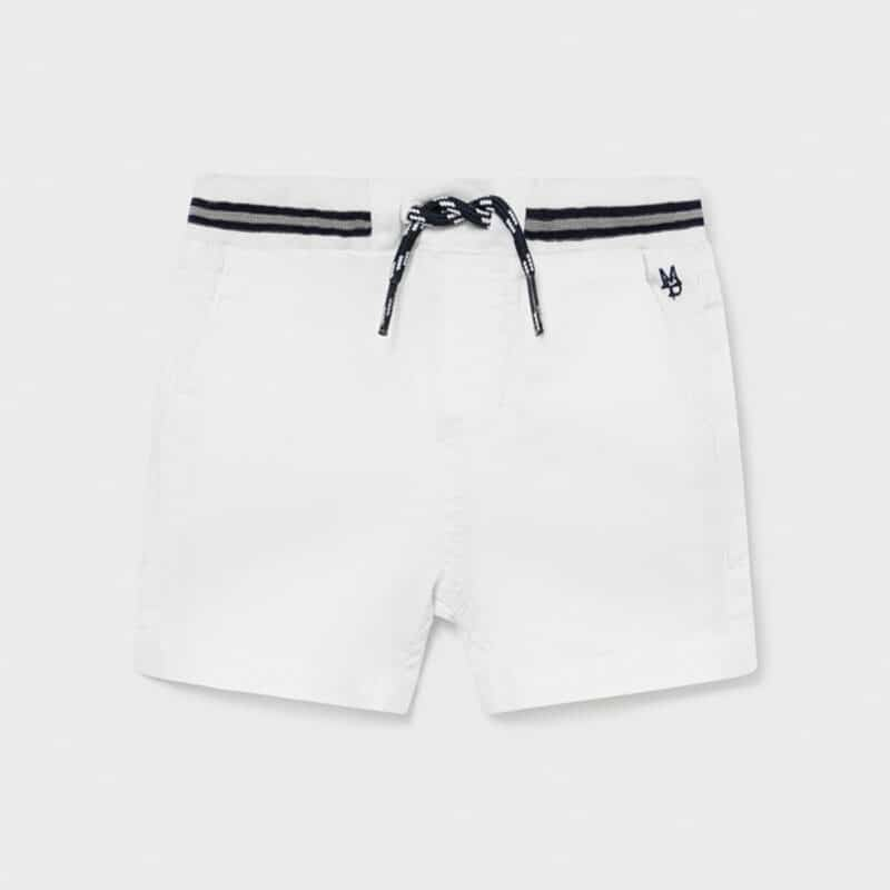 Shorts with belt White