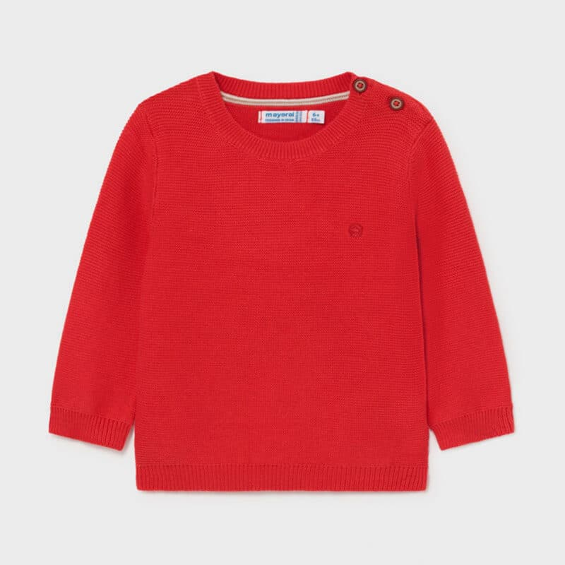 Basic Cotton Jumper Red