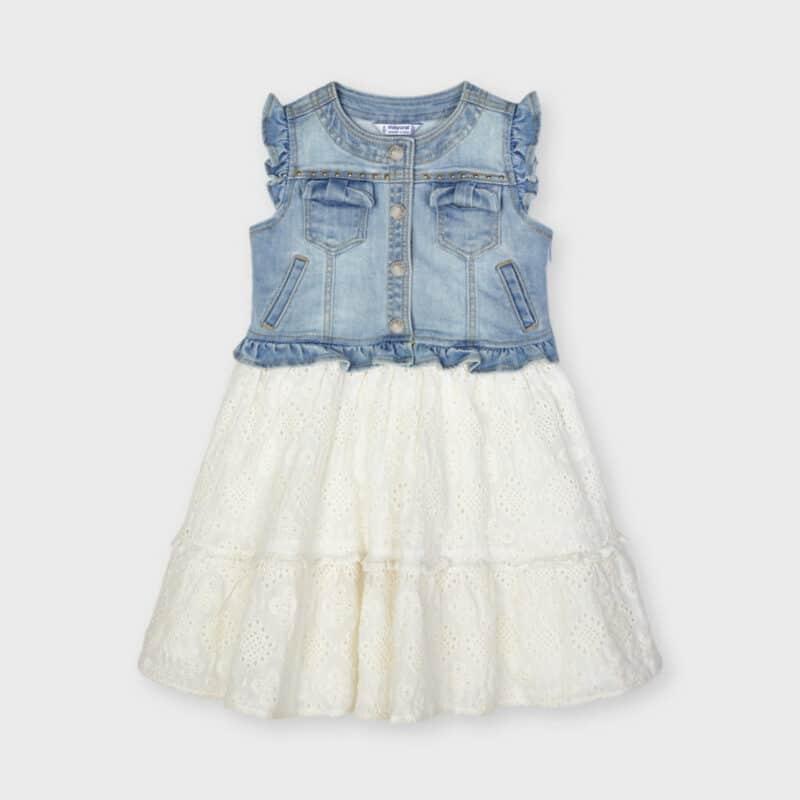 Combined Denim Dress