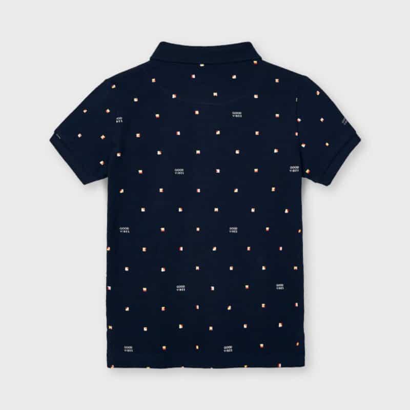 Print Polo Navy Blue