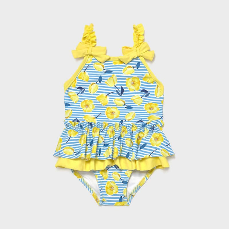 Ruffle swimsuit Yellow