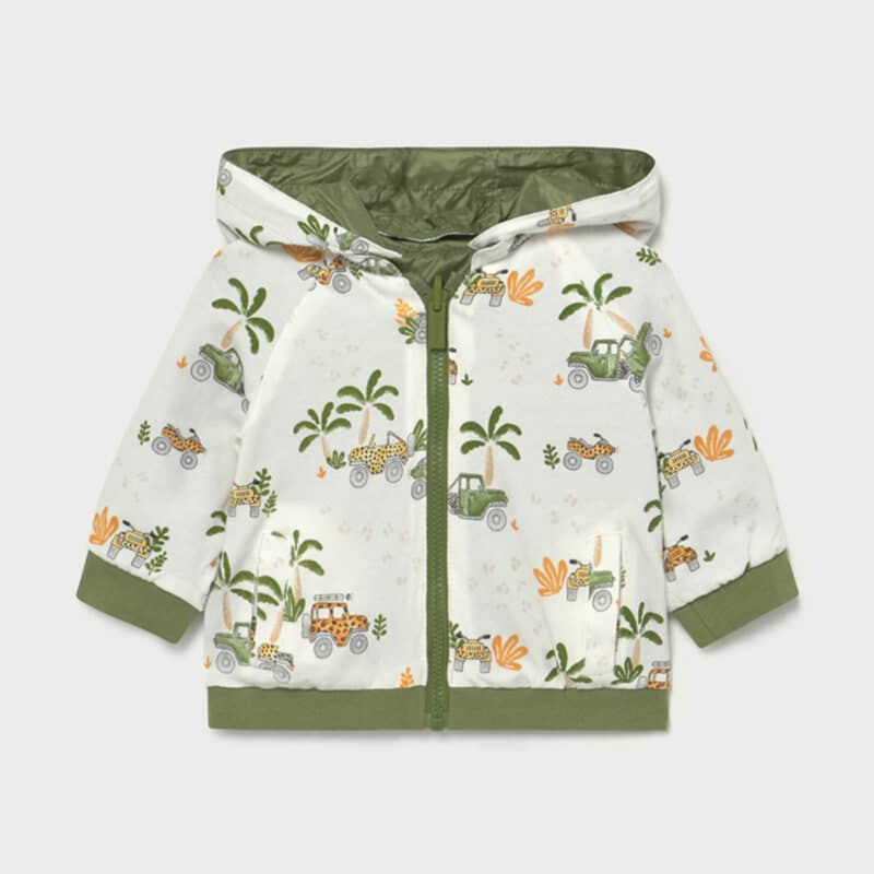 Ecofriendse reversible windbreaker jacket
