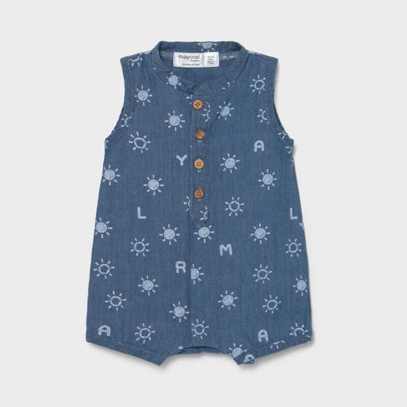 Onesie for newborn Blue denim