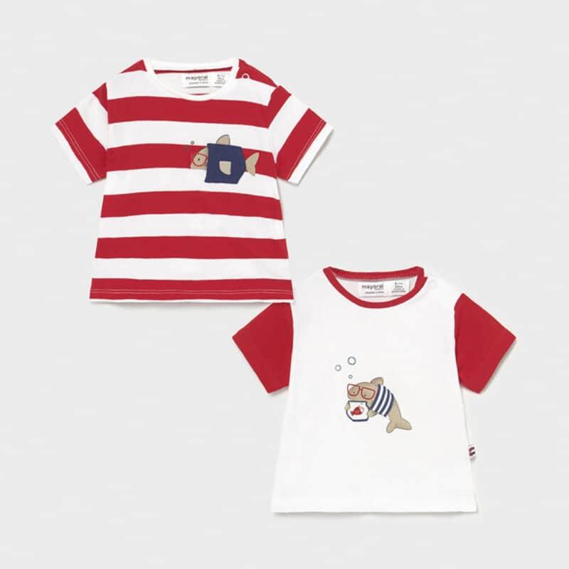 Set of 2 short sleeved t-shirts