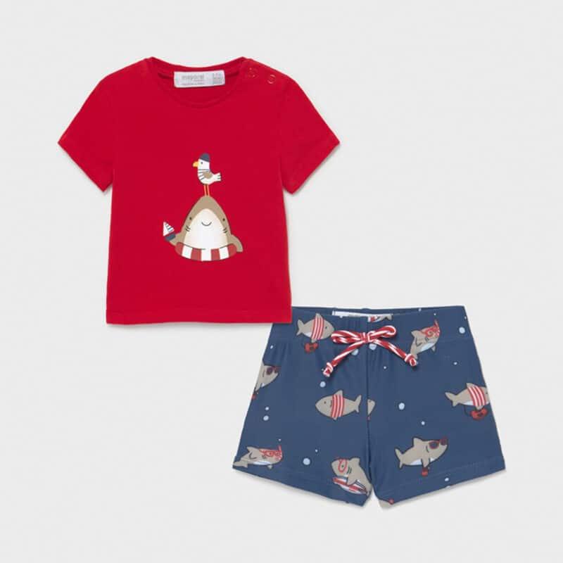 Swimwear set and shirt