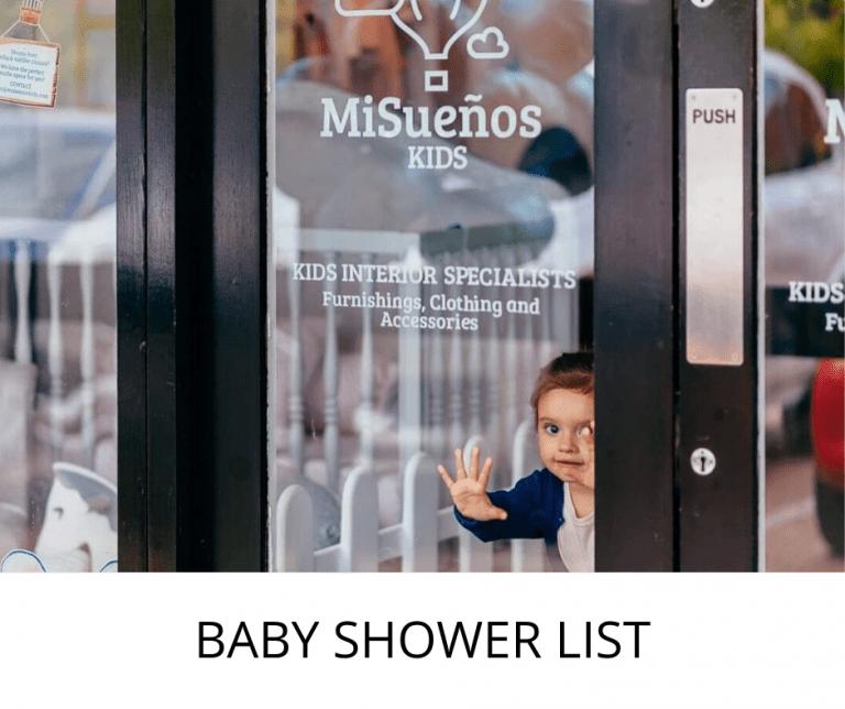 Baby shower list